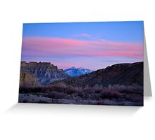 Utah Alpenglow Greeting Card