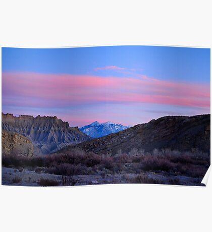 Utah Alpenglow Poster