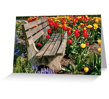 Abducted Park Bench Greeting Card
