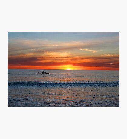 Kayaks by Sunset Photographic Print