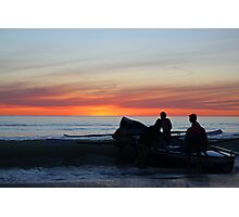 Boating by the Sea Photographic Print