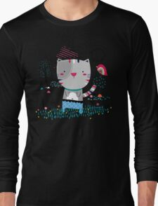 Cat in the Garden Long Sleeve T-Shirt