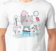 Cat in the Garden Unisex T-Shirt