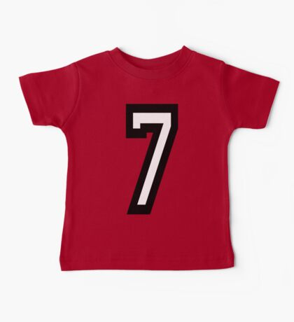 7, TEAM, SPORTS, NUMBER 7, SEVENTH, SEVEN, Competition Baby Tee