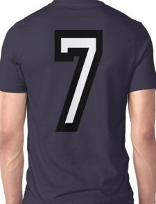 7, TEAM, SPORTS, NUMBER 7, SEVENTH, SEVEN, Competition Unisex T-Shirt
