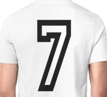 7, TEAM SPORTS, NUMBER 7, SEVENTH, SEVEN, Competition Unisex T-Shirt