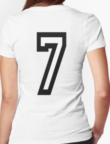 7, TEAM SPORTS, NUMBER 7, SEVENTH, SEVEN, Competition Womens Fitted T-Shirt