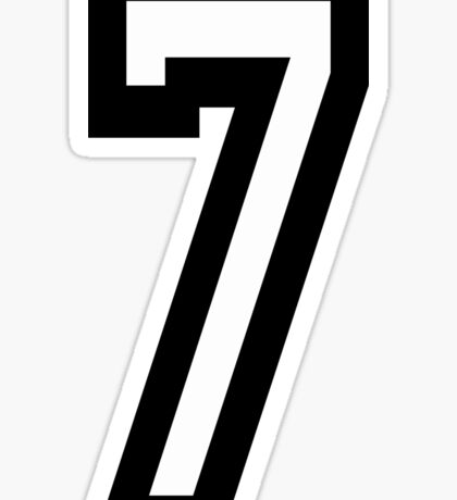 7, TEAM, SPORTS, NUMBER 7, SEVENTH, SEVEN, Competition Sticker