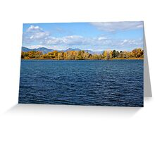 Colorado Autumn Lake Greeting Card