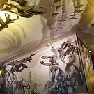 Artwork on Ceiling and Wall, Rockefeller Center Interior, New York City by lenspiro