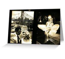 """Marilyn in New York"", Sam Shaw Photographer, Photography Exhibit in New York Subway, New York City Greeting Card"