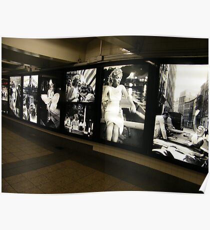 """Marilyn in New York"", Sam Shaw Photographer, Photography Exhibit in New York Subway, New York City Poster"