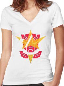Optimus Lagann 2.0 Women's Fitted V-Neck T-Shirt