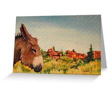 Cripple Creek Donkey Greeting Card