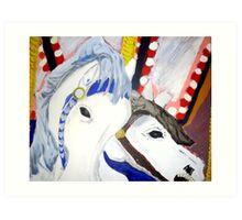 Carousel Horses - Wall Art Art Print