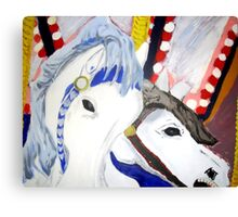 Carousel Horses - Wall Art Canvas Print