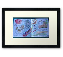 from the food diary: raw food bar Framed Print
