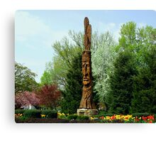 Chief Woapalanee Welcomes Spring Canvas Print