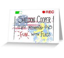 Big Bang Theory - Fun with Flags Greeting Card