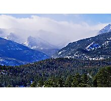 Rocky Mountain National Park Cloudy Peaks Photographic Print