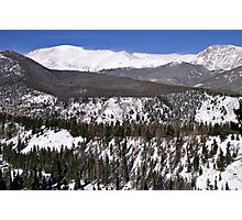 Rocky Mountain National Park Windswept Peaks Photographic Print