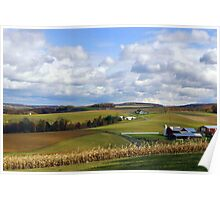 Farmland's Rolling Hills Poster