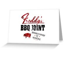 House of Cards Freddy BBQ Greeting Card