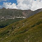 Rocky Mountain National Park Tundra Skyline by Michael Kirsh