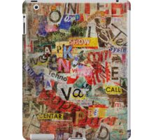 Letters Pattern iPad Case/Skin