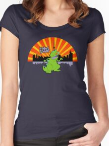 Reptar in da sity Women's Fitted Scoop T-Shirt