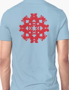 Rooster Snowflake Unisex T-Shirt