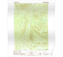 USGS TOPO Map New Hampshire NH Percy Peaks 329742 1988 24000 Poster