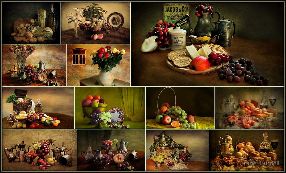 Collage of Still life . by Irene  Burdell