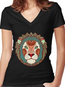 Leo Women's Fitted V-Neck T-Shirt