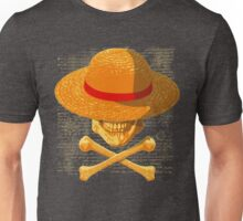 one piece LUFFY skull  realistic hat flag logo ワンピース Unisex T-Shirt