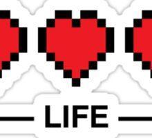 8bit life bar Sticker