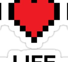 8bit life bar Sticker