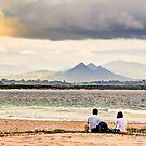 Lovers, Mountains and Clouds at Byron Bay by Cheryl Styles