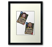 BB hearthstone jesse and walter Framed Print