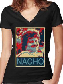 Nacho Women's Fitted V-Neck T-Shirt