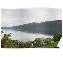 Loch Ness with Castle Poster