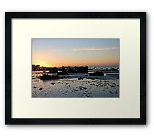 Sunrise shipwrecked Framed Print