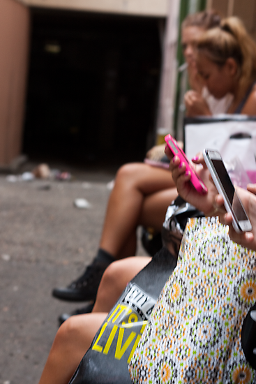 Girls smokin' text's by StreetScenes