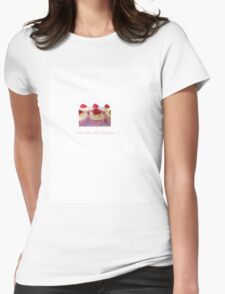 I love retro and cupcakes Womens Fitted T-Shirt