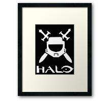Halo spartan logo Framed Print