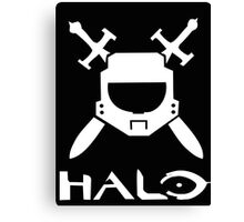 Halo spartan logo Canvas Print