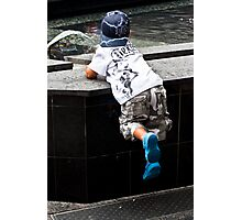 Magic Blue Boots Photographic Print