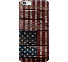 Vintage American Flag - Usa Flag Cracked Grunge Wood iPhone Case/Skin