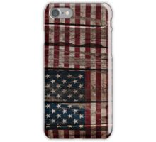 Vintage American Flag - Usa Flag Cracked Grunge Wood iPhone Case/Skin