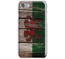 Vintage Wales Flag - Cracked Grunge Wood iPhone Case/Skin